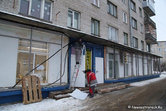 На ул.Борисова, д.4 готовится к открытию магазин «Магнит»