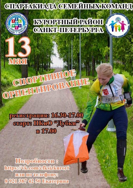 Соревнований по спортивному ориентированию в рамках Спартакиады «Семейные игры - 2017»