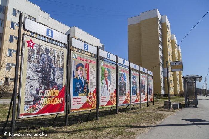 На улицах Сестрорецка разместили портреты ветеранов