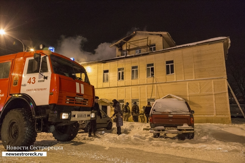 В Сестрорецке горел железнодорожный вокзал