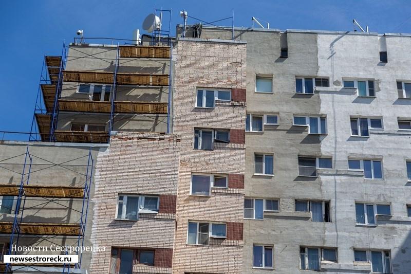 Капитальный ремонт фасада на улице Токарева 15