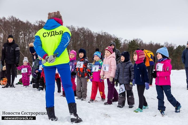В Сестрорецке прошли легкоатлетические соревнования «Снегоход» и «Снегобег» 2018